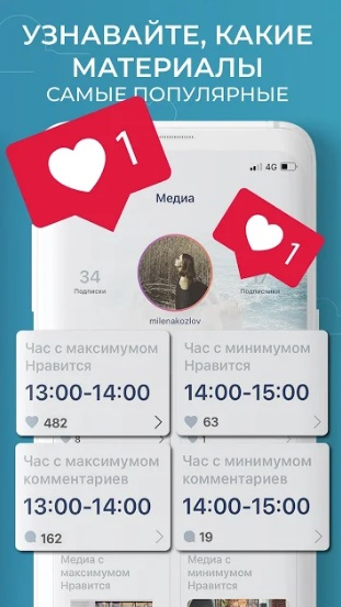 Reports for Instagram на Андроид