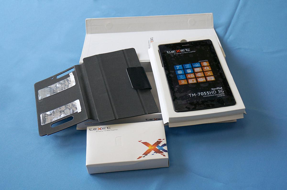 TeXet NaviPad TM-7055HD 3G - обзор и видео