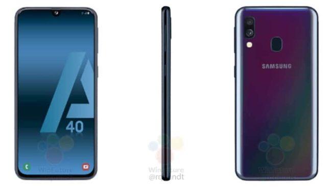 Samsung Galaxy A40 экран