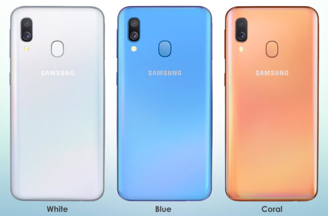 Samsung Galaxy A40 камера