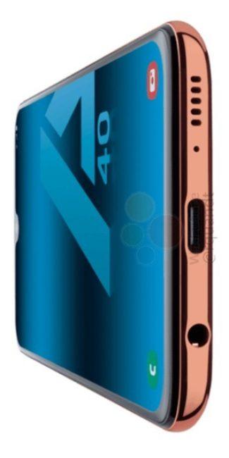Samsung Galaxy A40 вид сбоку