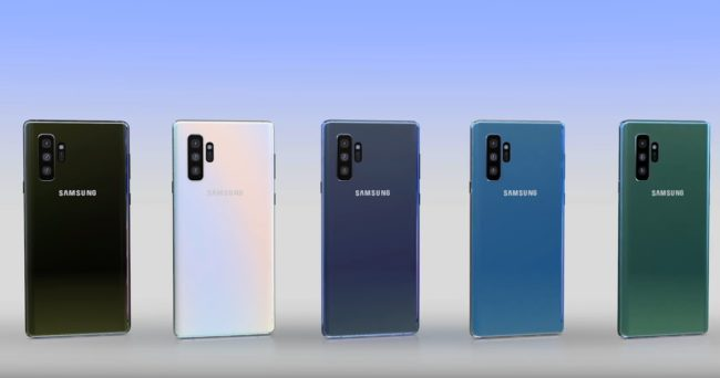 samsung galaxy note 10 цвета