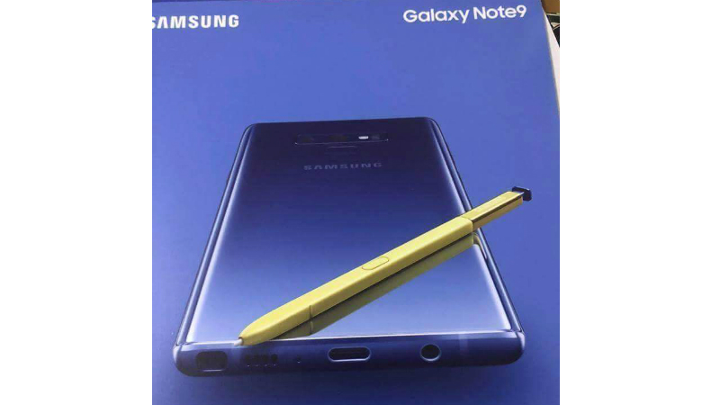 Galaxy Note 9 с 3.5-мм разъемом и в новой расцветке засветился на фото