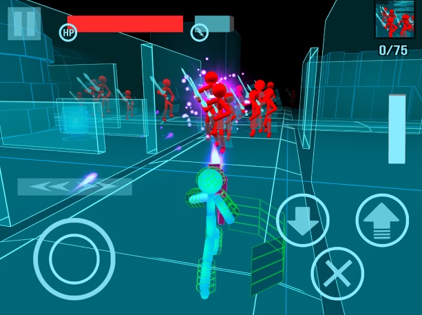 Stickman: Neon Gun Warriors на Андроид