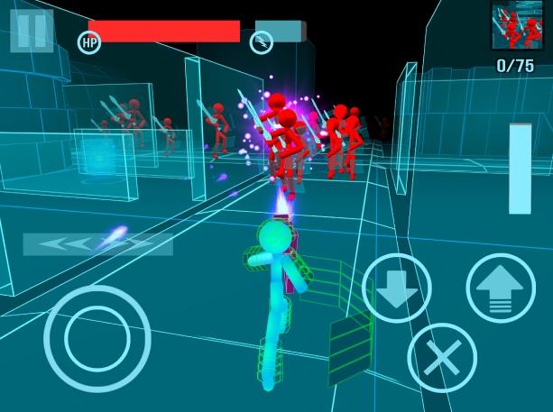 Stickman: Neon Gun Warriors на Андроид
