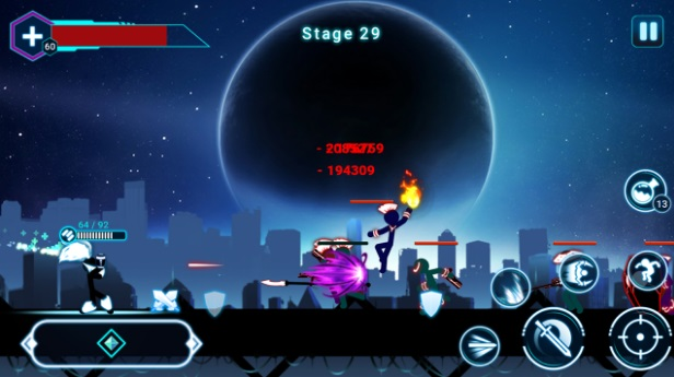 Stickman Ghost 2: Galaxy Wars на Андроид
