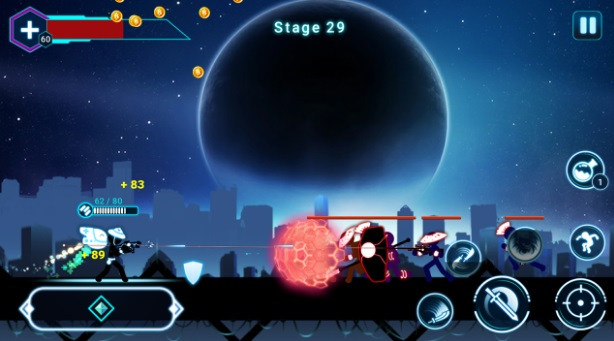 Stickman Ghost 2: Galaxy Wars на ПК