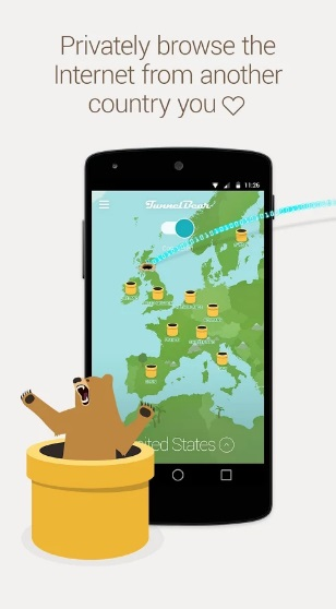 TunnelBear VPN на Андроид