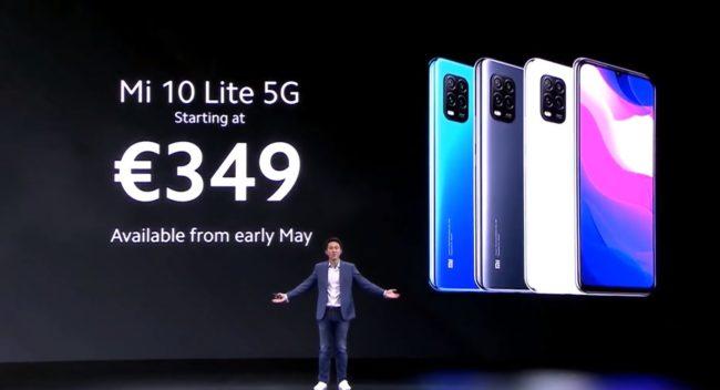 Xiaomi Mi 10 Lite цена