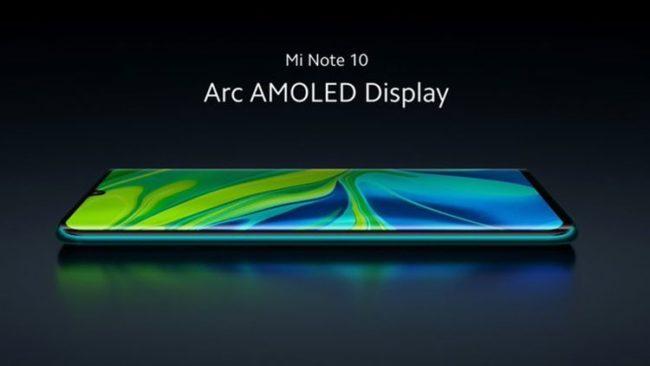 Xiaomi Mi Note 10 экран