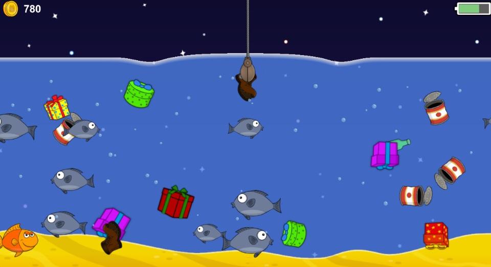 Новогодняя рыбалка на Андроид