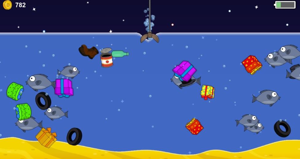 Новогодняя рыбалка на ПК