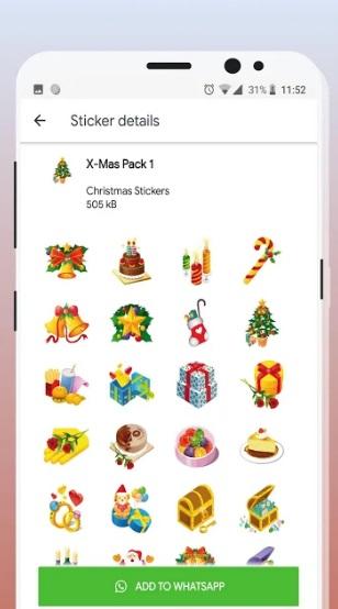 Christmas Stickers (WAStickerApps) на Андроид