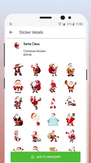 Christmas Stickers (WAStickerApps) на ПК